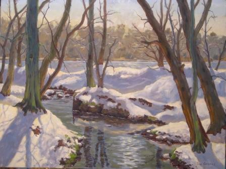 Carnegie Lake Snow 30x40